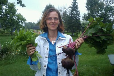 Shawn Phelps in her Meaford garden