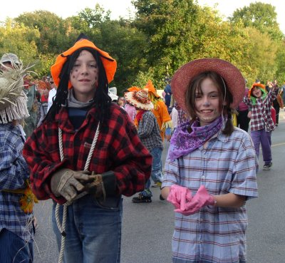 Meaford scarecrows parade through town