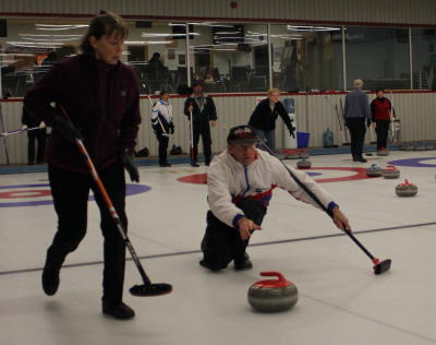 Meaford Curling Club in action