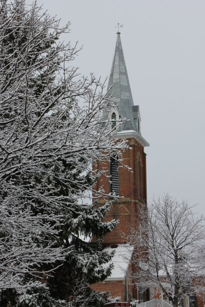 Pentecostal Church in snow