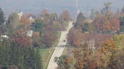 Rolling hills in Meaford autumn