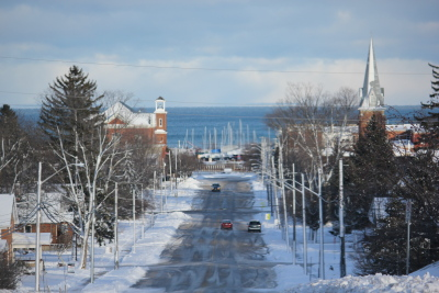 Meaford and the Bay in winter