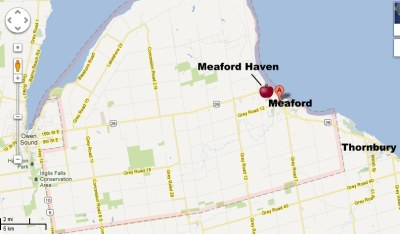 Meaford Health Clinic Map